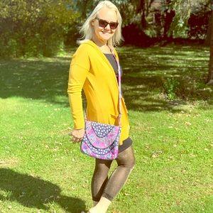 Vera Bradley Boisenberry Purple Paisley crossbody
